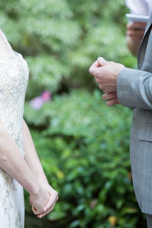 Ring Exchange Outdoor Wedding Ceremony