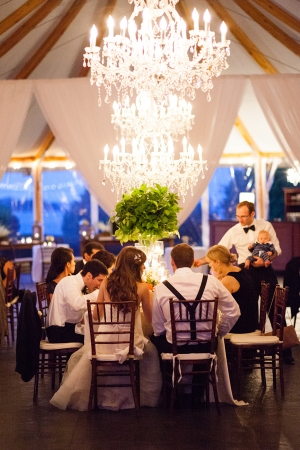 Romantic Chandelier at Reception