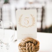 Rope Knot Table Number