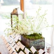 Rustic Elegant Place Card Table Ideas