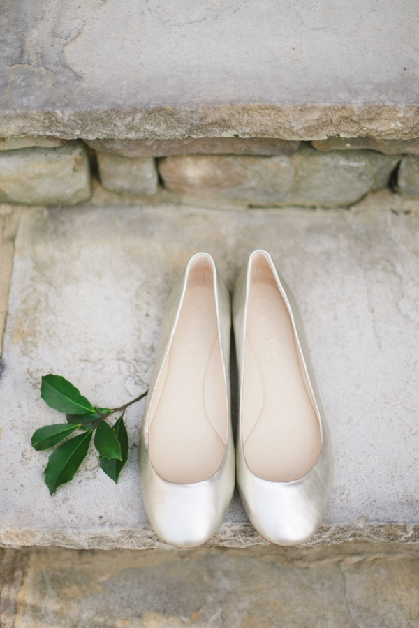 Satin Ballet Slippers Bridal Shoes