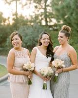 Silver Blush Bridesmaids Dresses