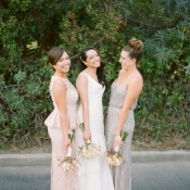 Silver and Blush Bridesmaids