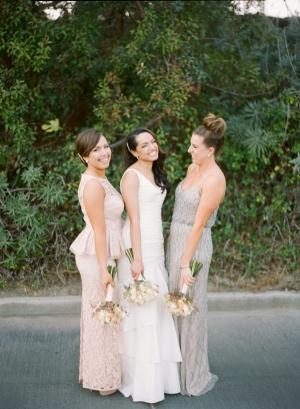 Silver and Blush Bridesmaids