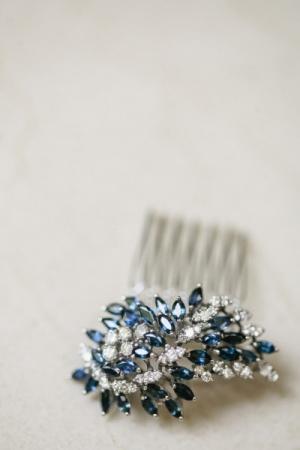 Sparkly Blue Hair Accessory