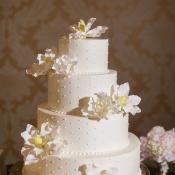 Swiss Dot Wedding Cake