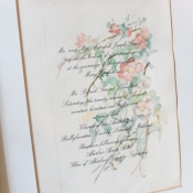 Watercolor Painted Wedding Invitation