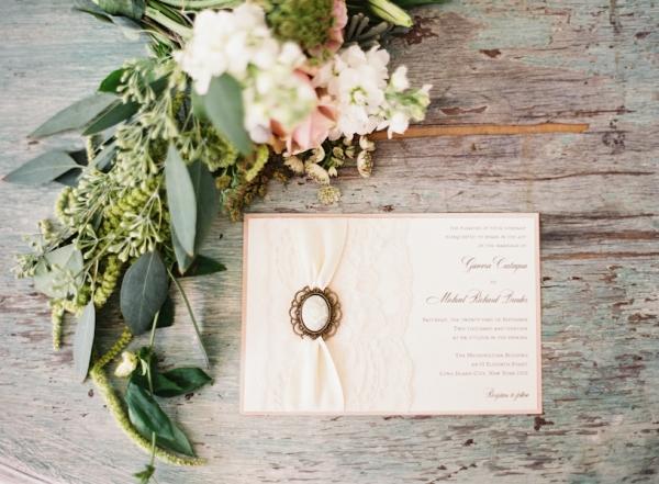 Wedding Invitations with Cameo