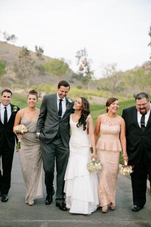 Wedding Party in Neutrals