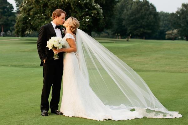 Wedding Portrait on Golf Course From Kristyn Hogan