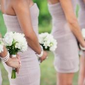 White Bridesmaids Bouquets