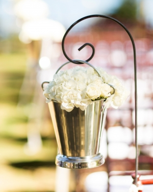 White Flowers in Mint Julep Cup