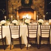 White Hydrangea Centerpieces Reception Decor