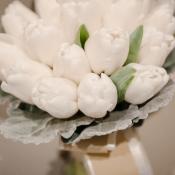 White Tulip Bridal Bouquet