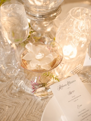 White and Silver Wedding Linens