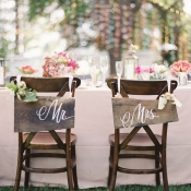 Wooden Calligraphy Chair Signs