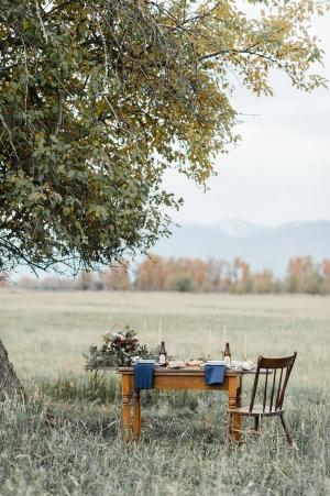 Wooden Wedding Tabletop