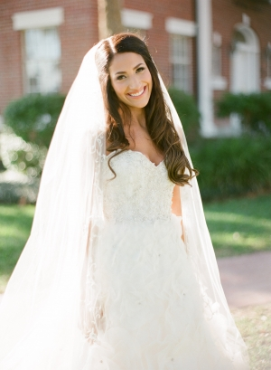 Beaded Bridal Gown With Sweetheart Neck