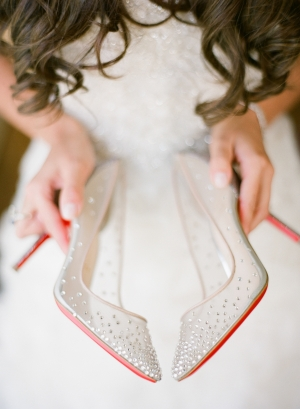 Beaded Christian Louboutin Bridal Shoes
