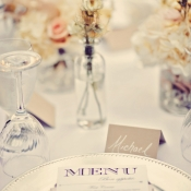 Beaded Silver Charger Reception Decor