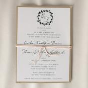 Black Gold and Cream Wedding Invitation