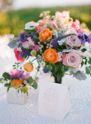 Bold Spring Floral Centerpiece