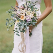 Bouquet with Hanging Ribbons