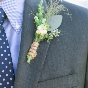 Boutonniere Wrapped in Twine