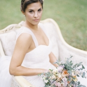 Bridal Gown With Tulle Straps
