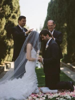Bride and Groom Kneeling Prayer