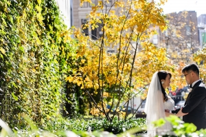 Bride and Groom in NYC Park