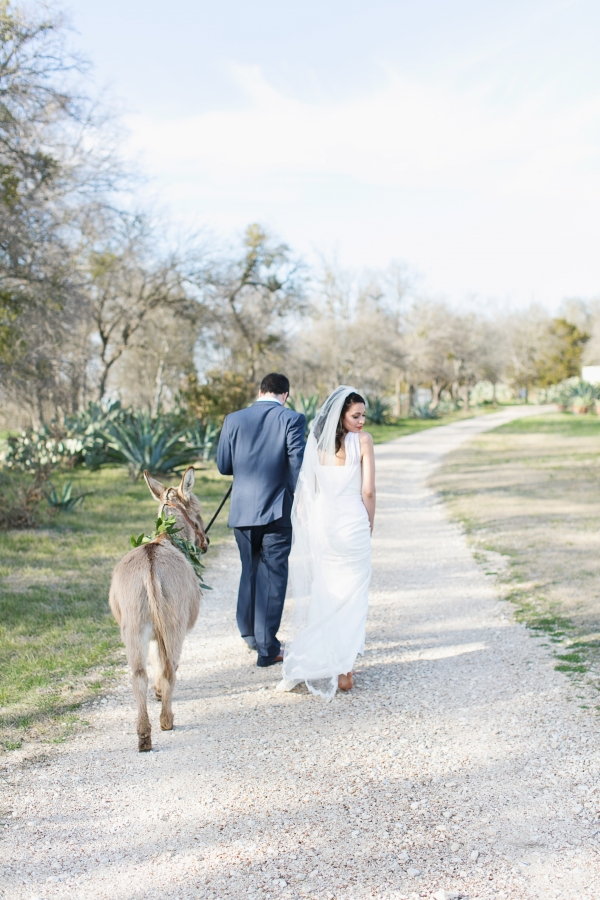 Bride and Groom on Gravel Path