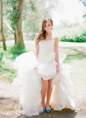 Bride in Blue Shoes