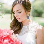Bride in Cobalt Blue Earrings