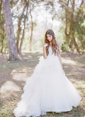 Bride in Ruffled Gown