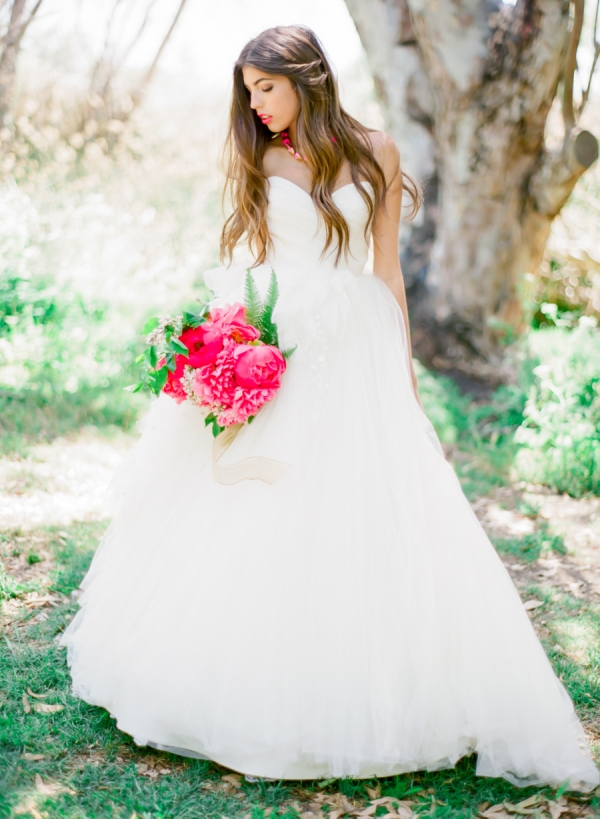 Bride with Pink Accessories
