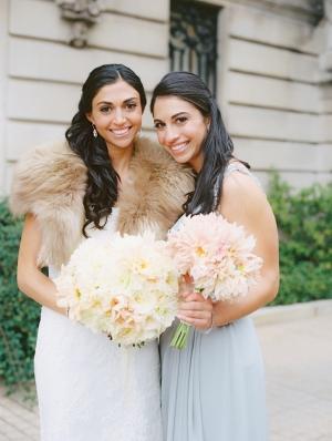 Bridesmaid in Pale Blue
