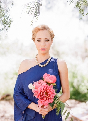 Bridesmaid in Prussian Blue
