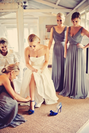 Bright Blue Bridal Shoes
