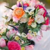 Bright Spring Floral Centerpieces