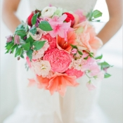 Bright Spring Floral Bouquet by Myrtie Blue