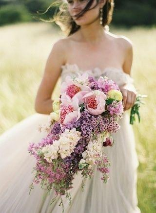 Cascading Lilac Bouquet by Kelly Oshiro