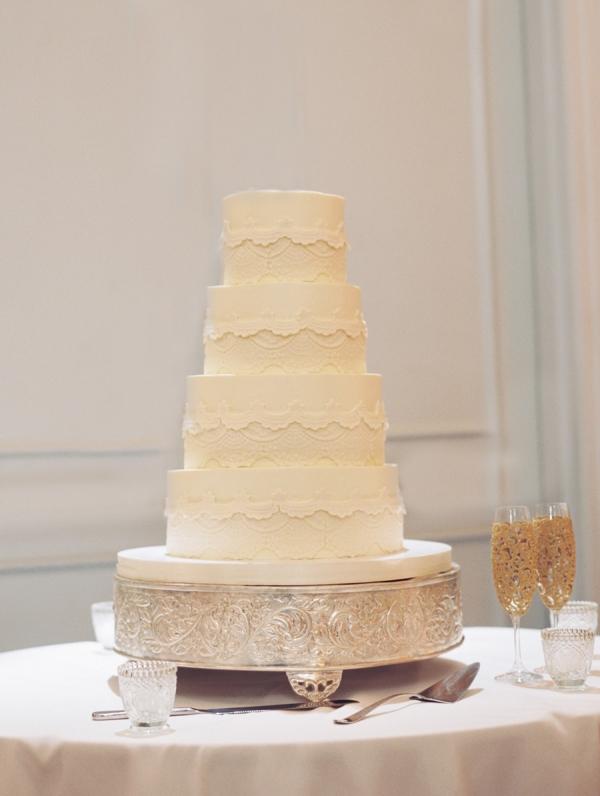 Classic Ivory Wedding Cake
