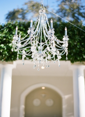 Crystal Chandelier Outdoor Reception Ideas