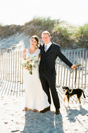 Dogs in Beach Weddings