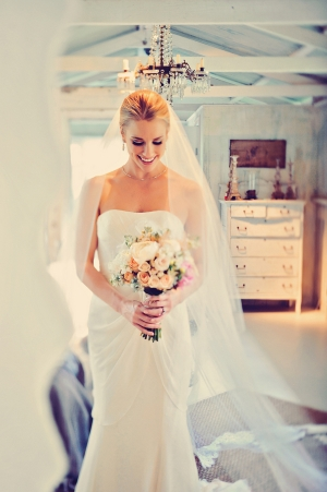 Draped Column Style Bridal Gown