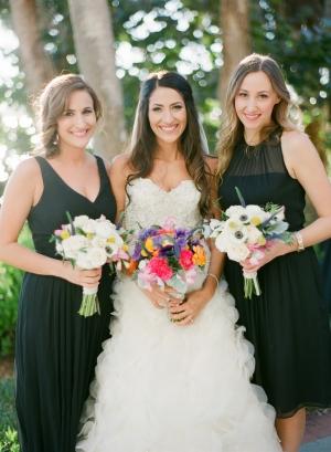 Elegant Black Bridesmaids Dresses1