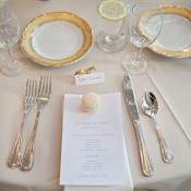 Elegant Gold and Cream Reception China