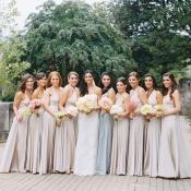 Elegant Pastel Bridesmaids