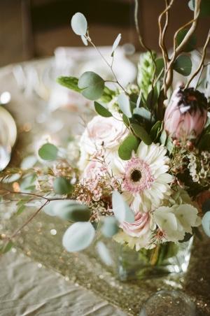 Elegant Pink and Green Floral Arrangement
